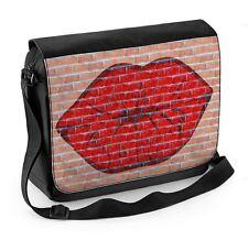 Lips Graffiti Laptop Messenger Bag