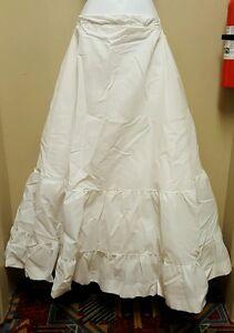 Crinoline Petticoat Slip Underskirt White Tulle Layered Bridal Wedding Formal