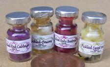 Échelle 1:12 Lot de 4 Mixte Pickle Pots Maison de Poupées Miniature Cuisine Accessoire 2