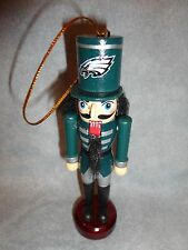 "PHILADELPHIA EAGLES NFL WOODEN NUTCRACKER ORNAMENT 5.25"" TALL"