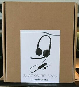NEW Plantronics Blackwire C3225 Stereo USB-A with 3.5mm mini Plug PC Headset P&P