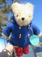 "VINTAGE TEDDY BEAR GABRIELLE 1981 PADDINGTON 15"" ENGLAND RARE SC TAGS RED BOOTS"