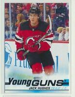 2019-20 Upper Deck Series 1 Rookie Young Guns 201 Jack Hughes New Jersey Devils