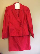 Tahari Arthur S. Levine Women's Red Skirt Suit Size 10