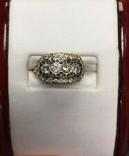 Exquisite Vintage 14Kt Yellow Gold Diamond Sapphire Ring