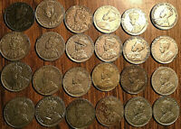LOT OF 24 CANADA 5 CENTS ALL GEORGE V LOT OF 24 COINS