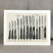 Impression antique couteaux de poche couteau publicité motif Guide RARE 19th siècle