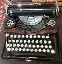 RARE Vtg Wood Grain UNDERWOOD Standard 4 Bank Keyboard Portable TYPEWRITER (A40)