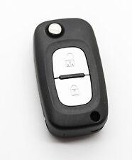 Se adapta a Renault Clio Kangoo Megane modus 2 botón Remoto Llavero Funda + En Blanco Blade