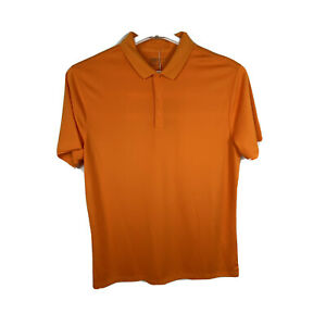 Nike Golf Dri Fit Mens Polo Shirt Large Athletic Orange 822853 NWT