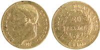 20 Francs Or NAPOLEON IER EMPEREUR - 1810 A PARIS - GRAND COQ