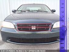 GTG 1998 - 2000 Honda Accord 4dr 2PC Gloss Black Upper Overlay Billet Grille Kit