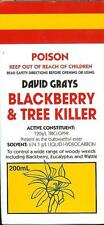 Blackberry & Tree Killer 200mL David Grays Triclopyr x2 MORE CONCENTRATED