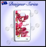 For Samsung Galaxy S2 i9100 Personalised case Orchid Pretty Pink Red Flower 65