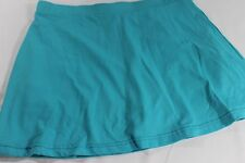 PURE LIME M Med Bright AQUA Blue Stretch Knit TENNIS SKIRT Skorts GOLF Free Ship