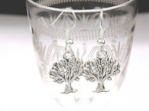 Tree of life earrings pagan wiccan  on 925 silver hooks ..NEW handmade