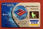 Bank of America Platinum Visa credit card exp 2007◇free ship◇cc1682 Savings Bond