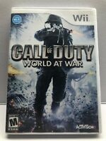 Call of Duty: World at War Nintendo Wii Video Game - Complete - Tested Working