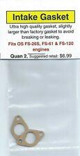 OS FS-26 Surpass and FS-61 & FS-120 Intake Manifold Gasket 2 Pack-NIP