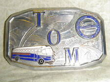 vintage Bus Belt Buckle small TOM Street Electric Railway Motor Coach Employees