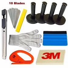10 in 1 Car Vinyl Wrap Tools Kits Squeegee Vehicle Wraps Scraper Magnet Holder
