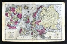 1844 Smith Map Europe Spain France Italy Germany Austria Turkey Russia Swedem