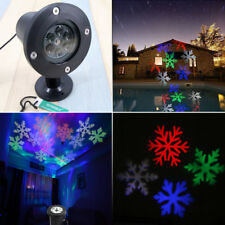 (Field LED Moving Colored Snowflake Laser Light Projector Lamp Xmas Party Decor)