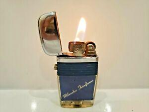 "Vintage Working  Scripto VU Vintage Lighter ""MILWAUKEE ELECTRONICS"" BLUE 1060.29"