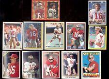 1982-1990 Topps Panini JOE MONTANA San Francisco 49ers Sticker Lot + Foil