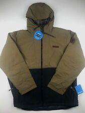 Columbia Mens 2XL Brown Blue Insulated Waterproof Full Zip Hooded Winter Jacket