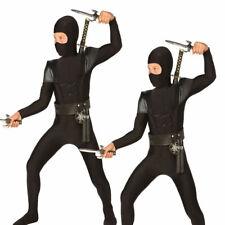 Medium Adult's Black Ninja Bodysuit - Fancy Dress Costume Samurai Boys Outfit
