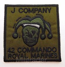 Britain British Royal Marines 42 Commando J Company Patch (Subdued)