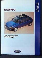 FORD FIESTA CALYPSO 1991 Special Edition Sales Brochure