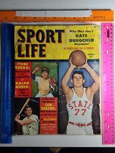 Vintage SPORT LIFE MAGAZINE March 1951 Yogi Berra Ralph Kiner Durocher SPIVEY NC