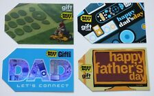 Best Buy Gift Card LOT of 4 - Father's Day / Dad Riding Mower - Older / No Value