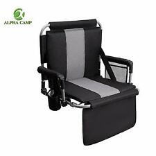 ALPHA CAMP Stadium Seat Padded Chair for Bleachers with Back and Arm Rest
