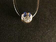 Anhänger 24 Karat Vergoldet Mickey Maus Necklace Kette Strass Weiß Blau Schleife