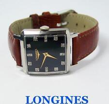 Vintage S/Steel LONGINES Unisex Winding Watch w/Daimonds Cal 23Z 1940s* SERVICED