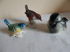 3 figurines d'oiseaux en céramique - Goebel
