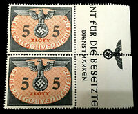 MNH WWII Symbol Emblem Stamps 5 Zloty 1940 Germany Occupied Poland