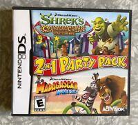 Shrek Carnival Craze & Madagascar Kartz Nintendo DS Complete w/ Manual TESTED