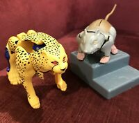 VINTAGE BEAST WARS CHEETAH & RATTRAP ACTION FIGURES TRANSFORMERS G1 PARTS VGC!!!