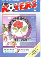 BLACKBURN ROVERS V CRYSTAL PALACE PLAY OFF FINAL 31 MAY 1989 VGC
