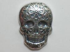 2 oz DAY OF THE DEAD SILVER SKULL - MONARCH PRECIOUS METALS - MPM TWO OUNCE TROY