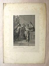Burin, Illustration de Mithridate Racine, XIXème, J. Massard d'après P. Peyron