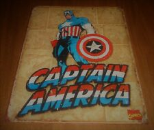 2011 Marvel Comics Retro 16 x 12 Tin Sign Hang - Captain America - Used