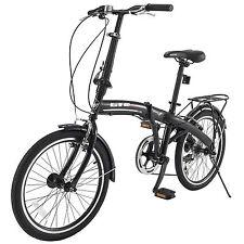 "New 20"" Mini Folding Bike Foldable 6 Speed Bicycle  Shimano School Bicycle Black"