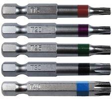 TORX Driver Bit Set - 2 inch - T15, T20, T25, T30, T40 ~ Quick-Change Shank Torx