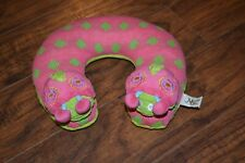 E9- Maison Chic Pink Green Travel Neck Pillow Infant Baby Head Support