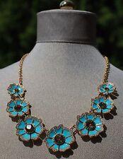 kate spade garden grove graduated short necklace authentic aqua turquoise bloom